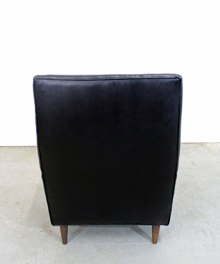 Unknown Midcentury Danish Modern Leather Selig Lounge Chair For Sale