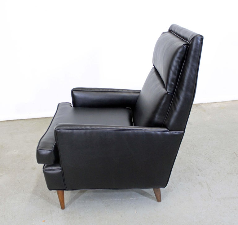 Midcentury Danish Modern Leather Selig Lounge Chair In Good Condition For Sale In Wilmington, DE
