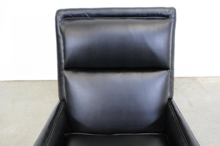 Midcentury Danish Modern Leather Selig Lounge Chair For Sale 3