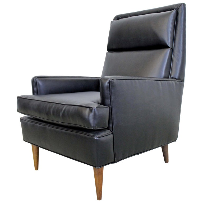 Midcentury Danish Modern Leather Selig Lounge Chair For Sale