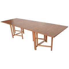 Midcentury Danish Modern Maria Table, Bruno Mathsson Scandinavian Modern