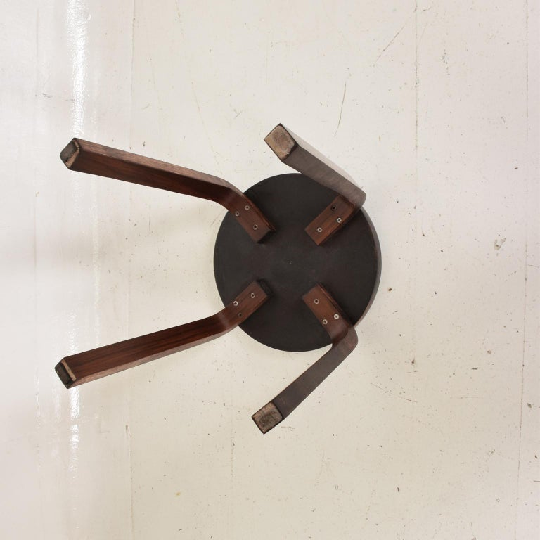 For your consideration, a rare rosewood stool by Alvar Aalto for Artek.  Dimensions: 13 3/4