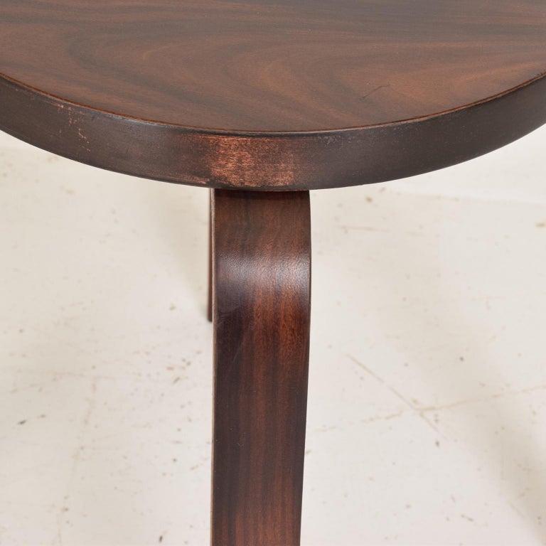 Late 20th Century Midcentury Danish Modern, Rare Rosewood Stool by Alvar Aalto for Artek For Sale