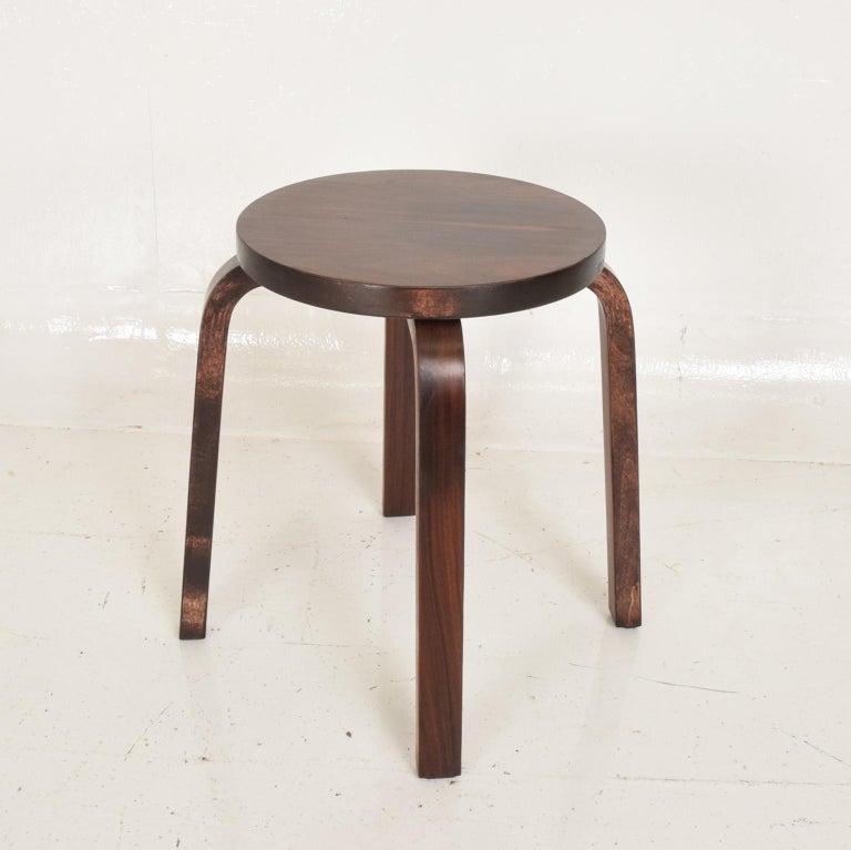 Midcentury Danish Modern, Rare Rosewood Stool by Alvar Aalto for Artek For Sale 1