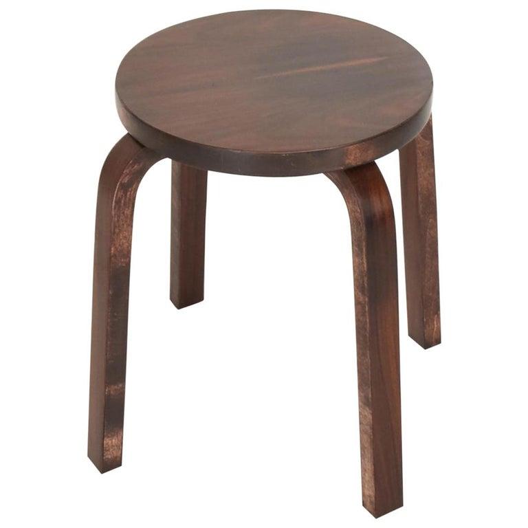 Midcentury Danish Modern, Rare Rosewood Stool by Alvar Aalto for Artek For Sale