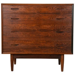 Midcentury Danish Modern Rosewood Commode, Chest or Drawers, Dresser