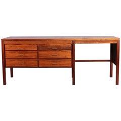 Midcentury Danish Modern Rosewood Desk, 1960s