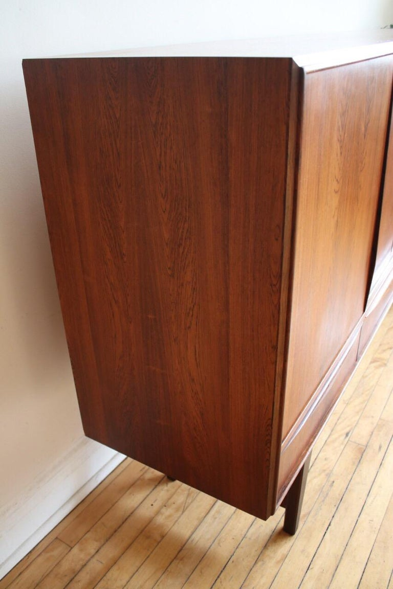 Midcentury Danish Modern Rosewood Tall Sideboard by E.W. Bach For Sale 12