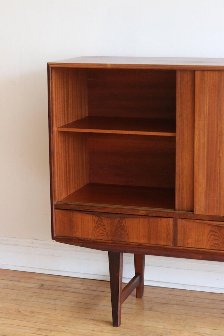 20th Century Midcentury Danish Modern Rosewood Tall Sideboard by E.W. Bach For Sale
