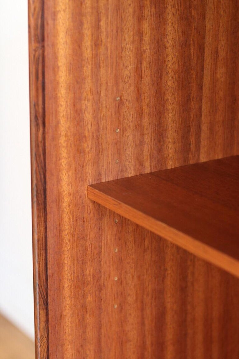 Midcentury Danish Modern Rosewood Tall Sideboard by E.W. Bach For Sale 1
