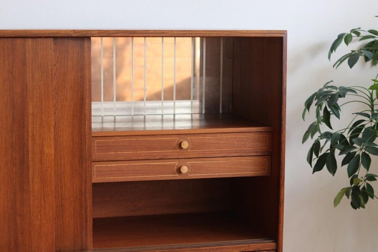 Midcentury Danish Modern Rosewood Tall Sideboard by E.W. Bach For Sale 3