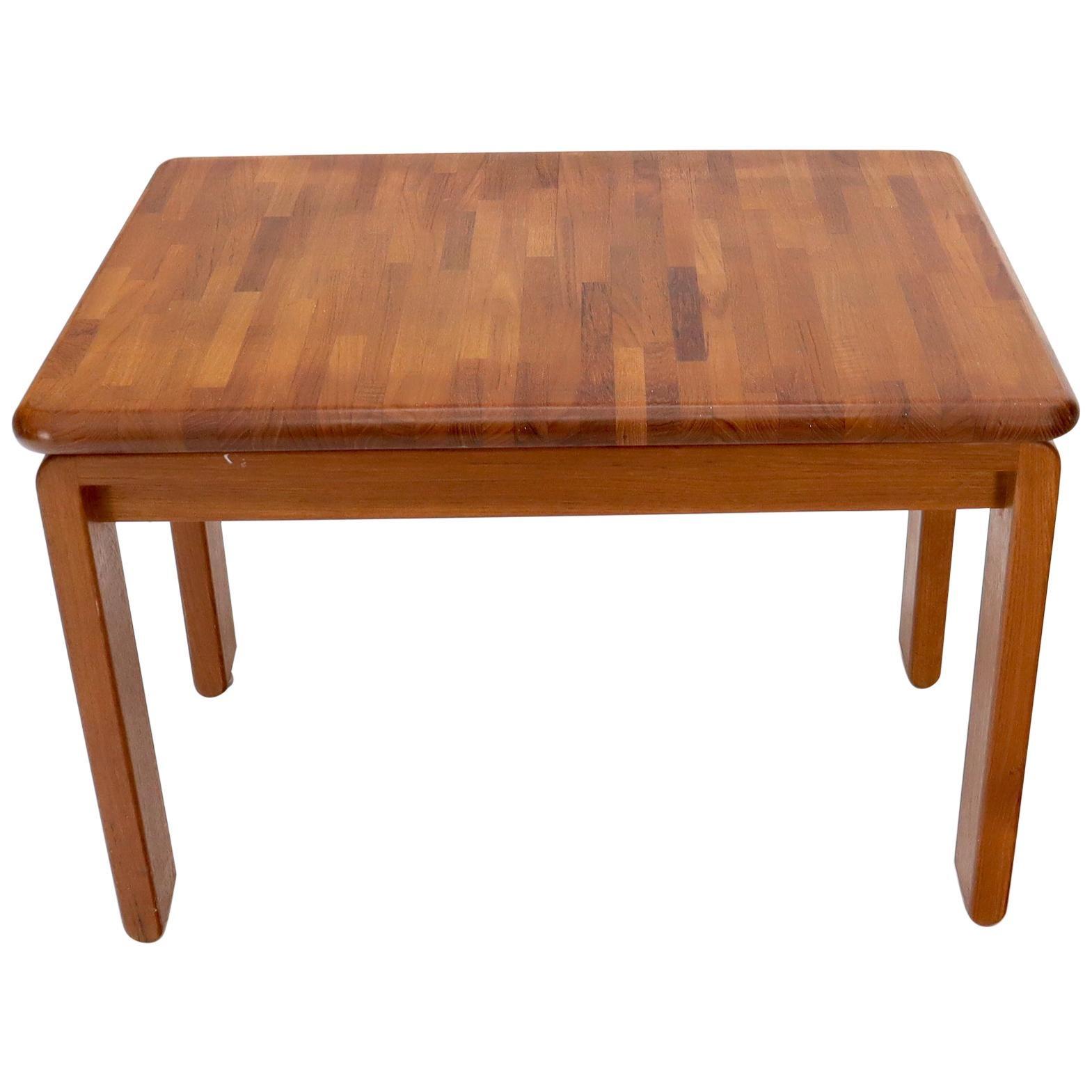 Midcentury Danish Modern Solid Teak Side End Table Stand