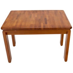 Midcentury Danish Modern Solid Teak Side End Table Stand