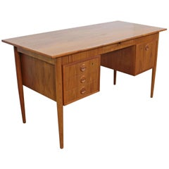 Midcentury Danish Modern Svenstrup J for AP Mobler Teak Executive Desk