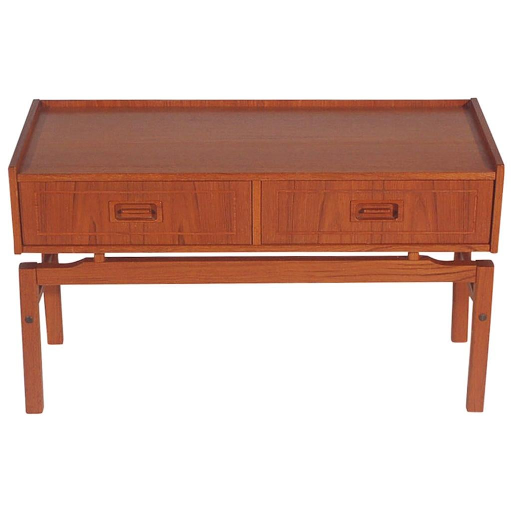 Midcentury Danish Modern Teak Cabinet or Petite Console Table