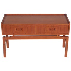 Midcentury Danish Modern Teak Cabinet or Petite Console Table