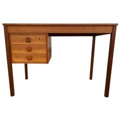 Midcentury Danish Modern Teak Desk 3 Drawers