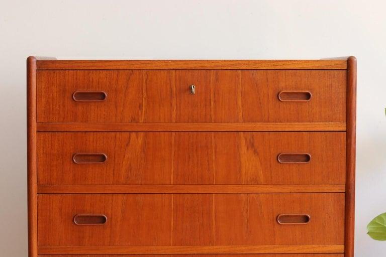 Scandinavian Modern Midcentury Danish Modern Teak Highboy Dresser
