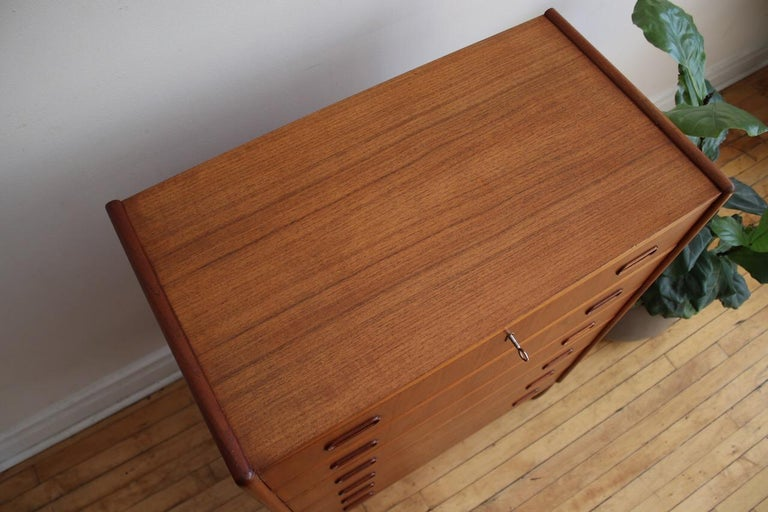 20th Century Midcentury Danish Modern Teak Highboy Dresser