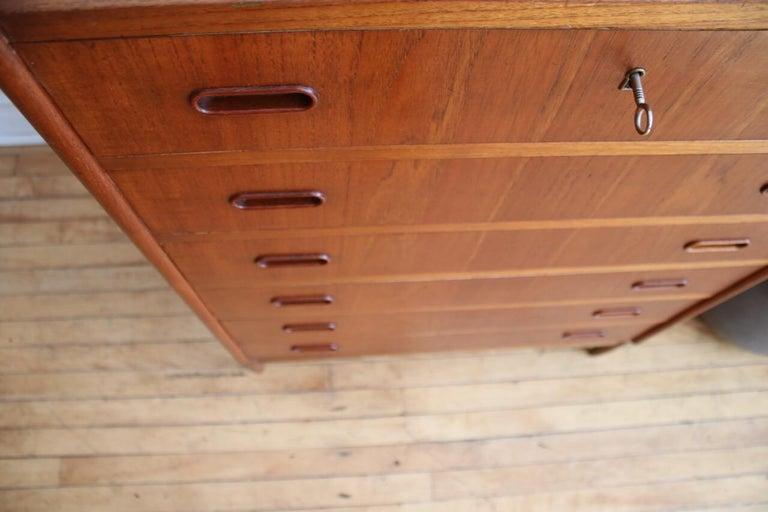 Midcentury Danish Modern Teak Highboy Dresser 1