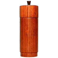 Midcentury Danish Modern Teak Wood Brass Pepper Mill Grinder