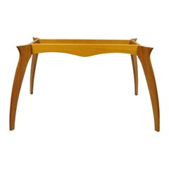 Mid Century Danish Modern Teak Wood Sculptural Dining Room Table Base