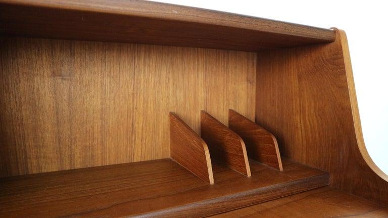 Midcentury Danish Modern Teak Wood Secretary Desk, Chest of Drawers, 1960s For Sale 12