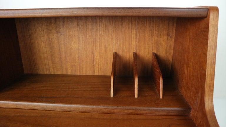 Midcentury Danish Modern Teak Wood Secretary Desk, Chest of Drawers, 1960s For Sale 13