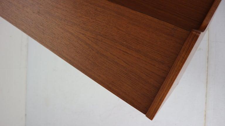 Midcentury Danish Modern Teak Wood Secretary Desk, Chest of Drawers, 1960s For Sale 14