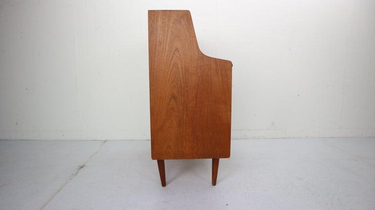 Midcentury Danish Modern Teak Wood Secretary Desk, Chest of Drawers, 1960s For Sale 4