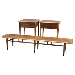 Midcentury Danish Modern Three-Piece Teak Coffee and End Table Set, 20th Century