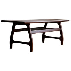 Midcentury Danish Modern Two-Toned Coffee Table