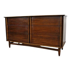 Midcentury Danish Modern Walnut 6-Drawer Credenza or Dresser