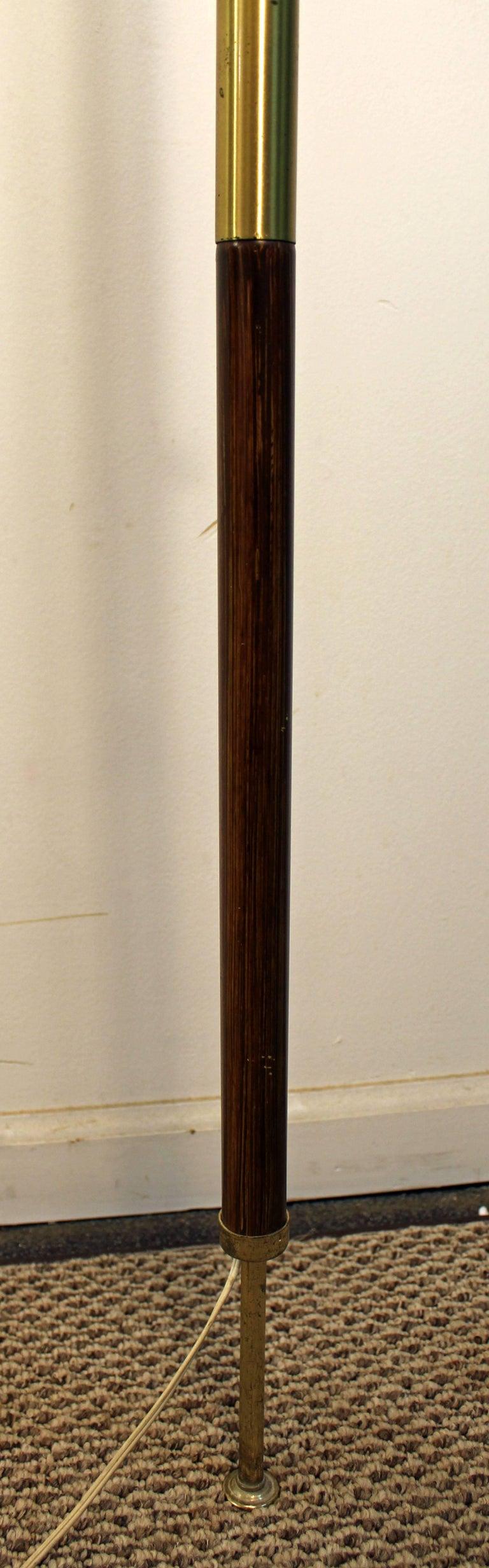 Midcentury Danish Modern Walnut Brass Three Way Tension Pole Lamp At 1stdibs