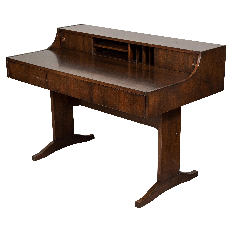 Midcentury Danish Modern Walnut Desk by Peter Lovig
