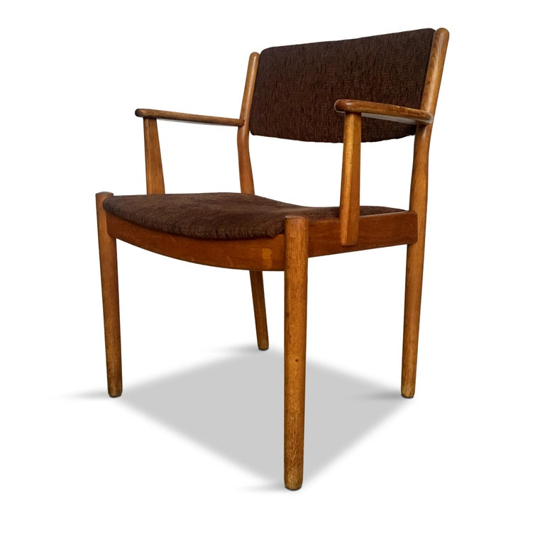 Scandinavian Modern Midcentury Danish Oak Armchair by Poul Volther for FDB Møbler, 1950s For Sale