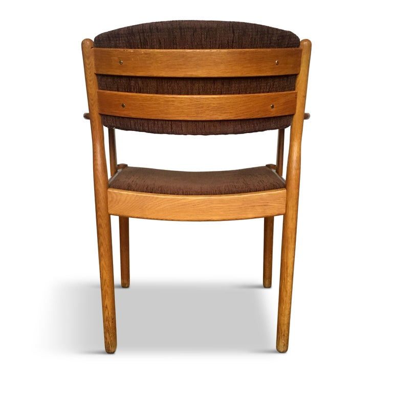 Midcentury Danish Oak Armchair by Poul Volther for FDB Møbler, 1950s In Good Condition For Sale In Riga, Latvia