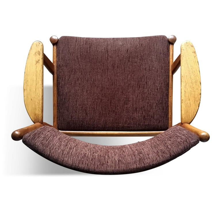 Midcentury Danish Oak Armchair by Poul Volther for FDB Møbler, 1950s For Sale 1