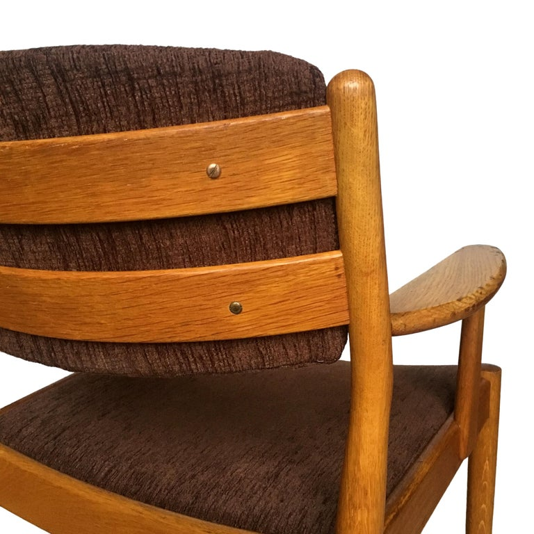 Midcentury Danish Oak Armchair by Poul Volther for FDB Møbler, 1950s For Sale 2