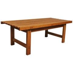 Midcentury Danish Oak Bench Table