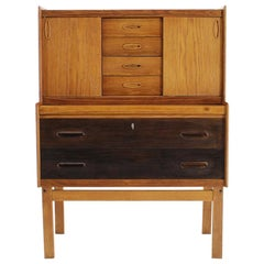 Midcentury Danish Oak Secretaire, 1960s