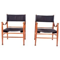 Mid Century Danish Pair of Safari Chair by Farstrup Stolen
