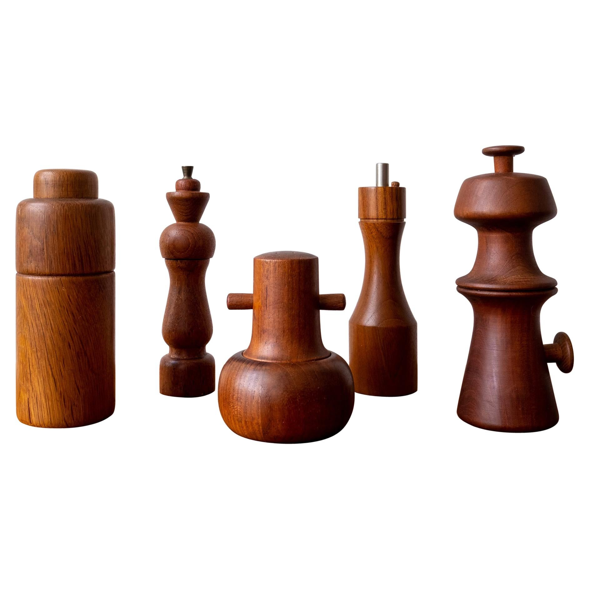 Midcentury Danish Pepper Mill Collection
