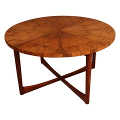 Midcentury Danish Rosewood Circular Coffee/Centre Table Possibly by France & Son