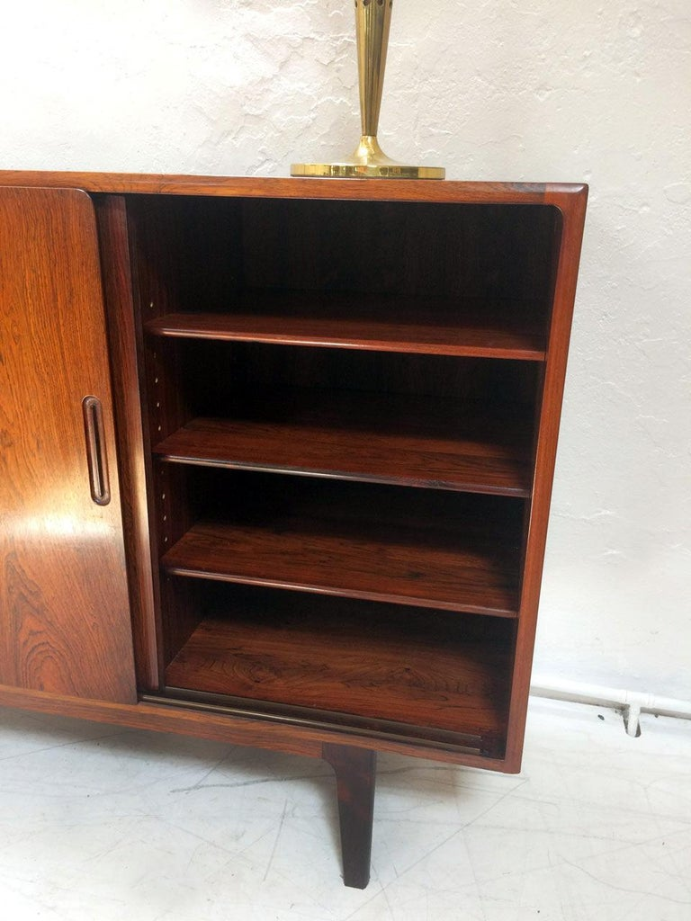 Midcentury Danish Rosewood Highboard Sideboard in the Style of Gunni Omann 1960 For Sale 4