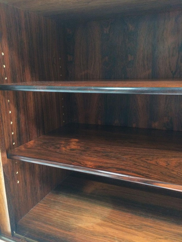 Midcentury Danish Rosewood Highboard Sideboard in the Style of Gunni Omann 1960 For Sale 5