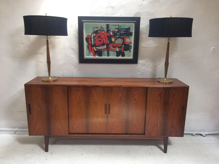 Mid-Century Modern Midcentury Danish Rosewood Highboard Sideboard in the Style of Gunni Omann 1960 For Sale