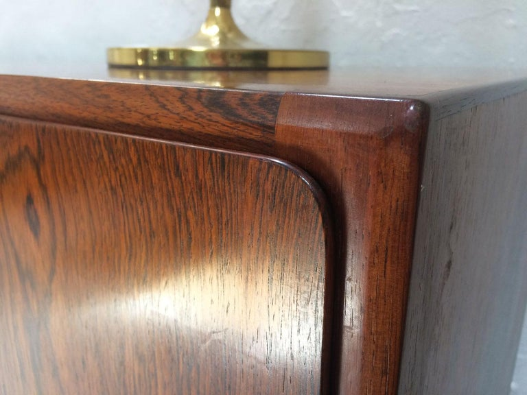 Baize Midcentury Danish Rosewood Highboard Sideboard in the Style of Gunni Omann 1960 For Sale