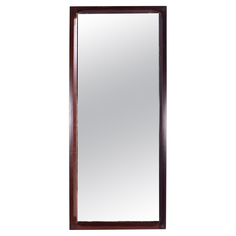 Midcentury Danish Rosewood Mirror by Aksel Kjersgaard