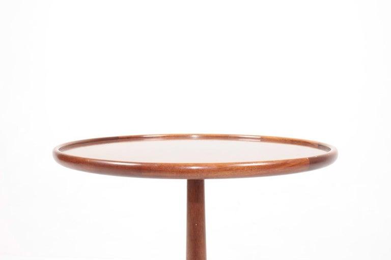 Scandinavian Modern Midcentury Danish Side Table, Mahogany by Lysberg Hansen & Terp, 1950s